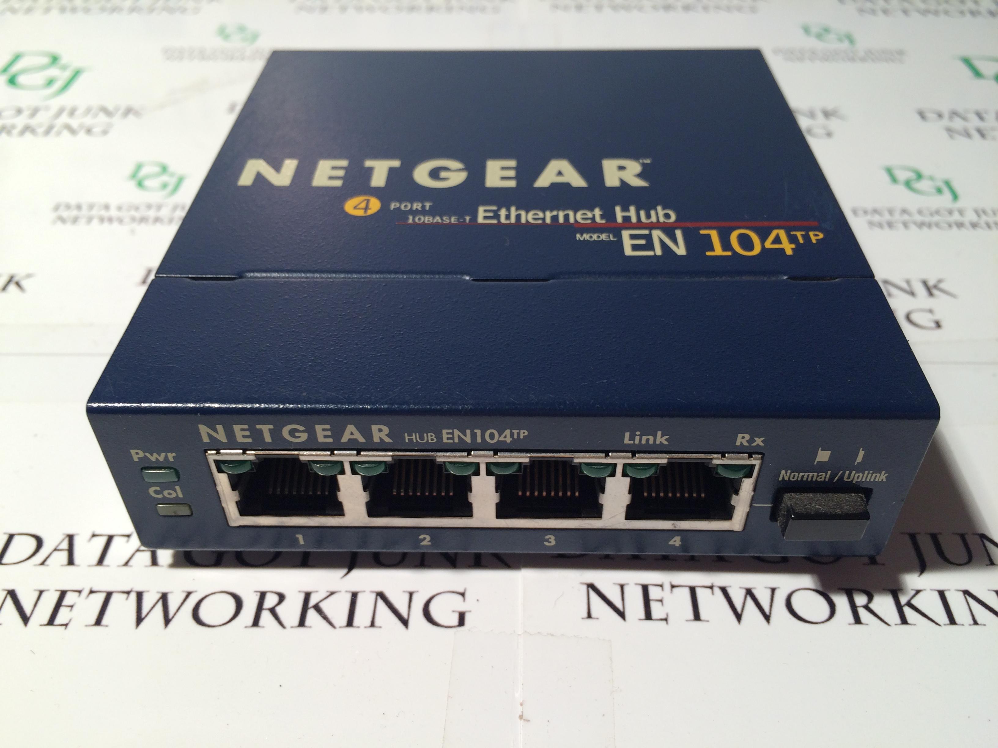 Netgear en104 4 port 10base t ethernet network hub - Ethernet cable hub 4 ports ...