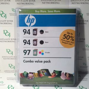 HP 3 Pack Ink 94 Black, 94, Black, 97 Tri-Color C9347-80005