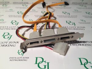 I/O 2 eSata Ports 1 Power Port Cable