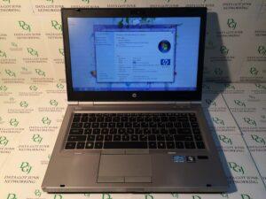 HP 8460p LAPTOP WINDOWS 7 PRO i5 8GB 750GB CDRW/DVD WIFI WEBCAM NOTEBOOK