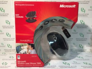 Microsoft 2.4GHz Wireless Rechargeable Laser 1142 Mouse 7000 Black