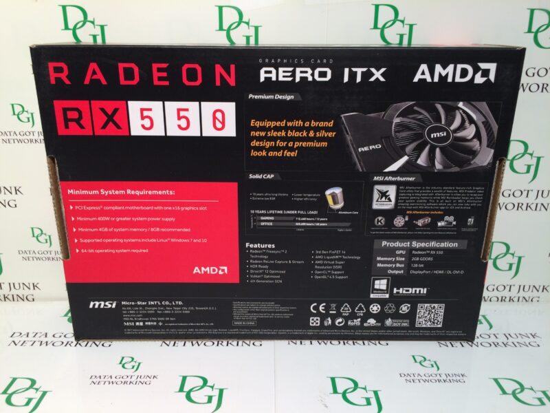 MSI AERO ITX Radeon RX 550 2GB